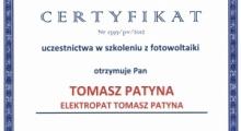Certyfikat nr2